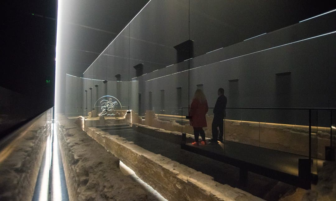Special effects at the London Mithraeum, Bloomberg.