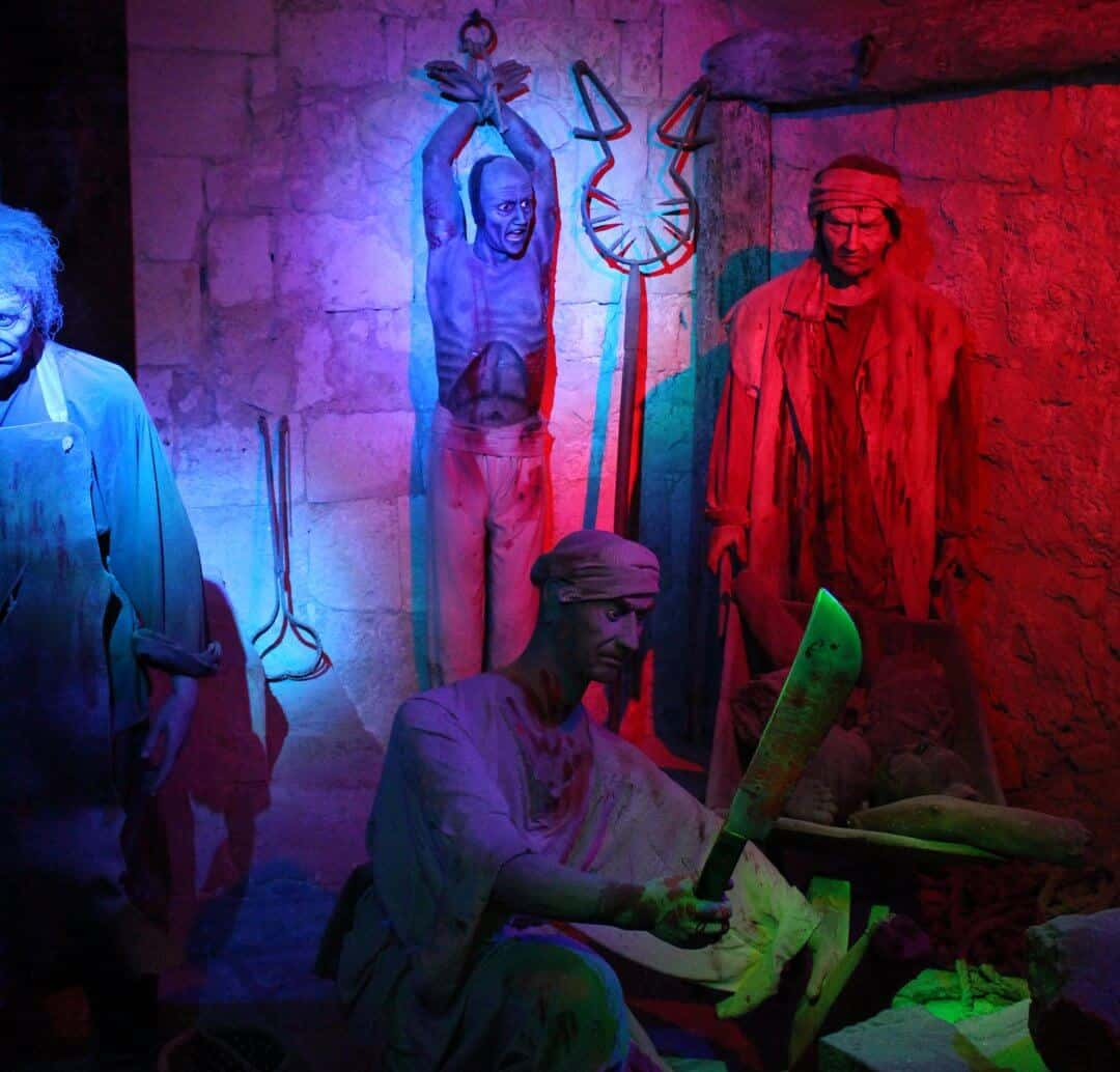 A gruesome display in the museum in Mdina, Malta.