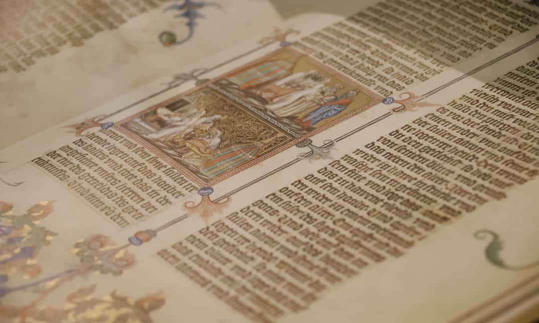 The Wenceslas Bible, an illuminated Medieval manuscript in the National Library, Vienna.
