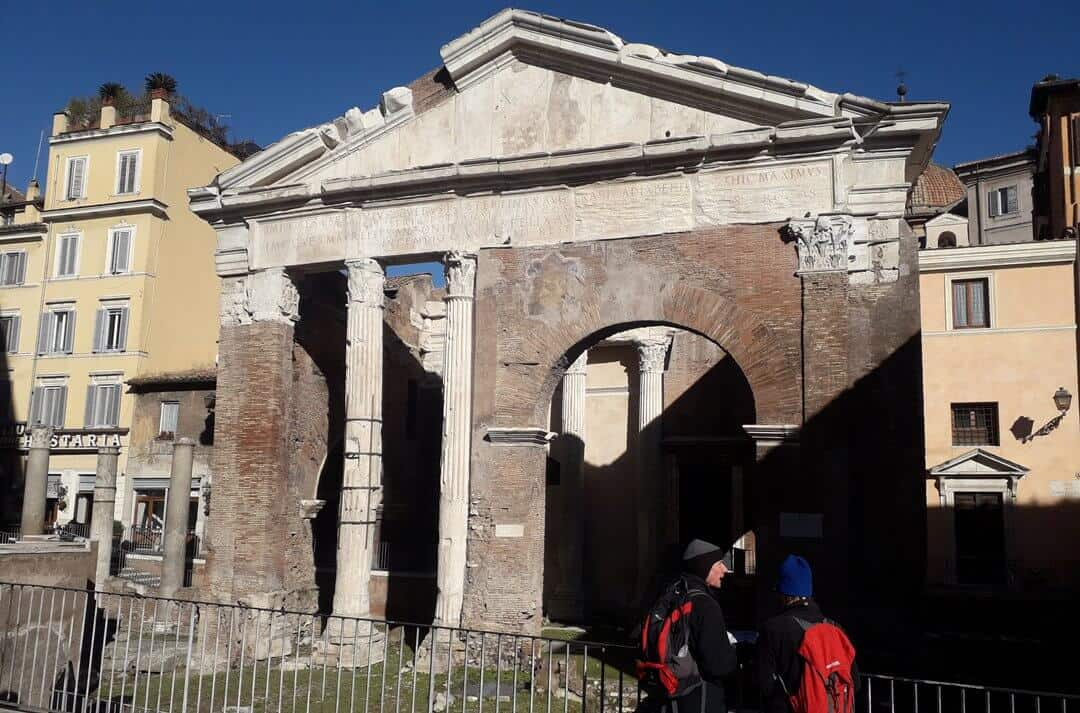 The Porticus Octaviae was part of the fish market in ancient Rome.