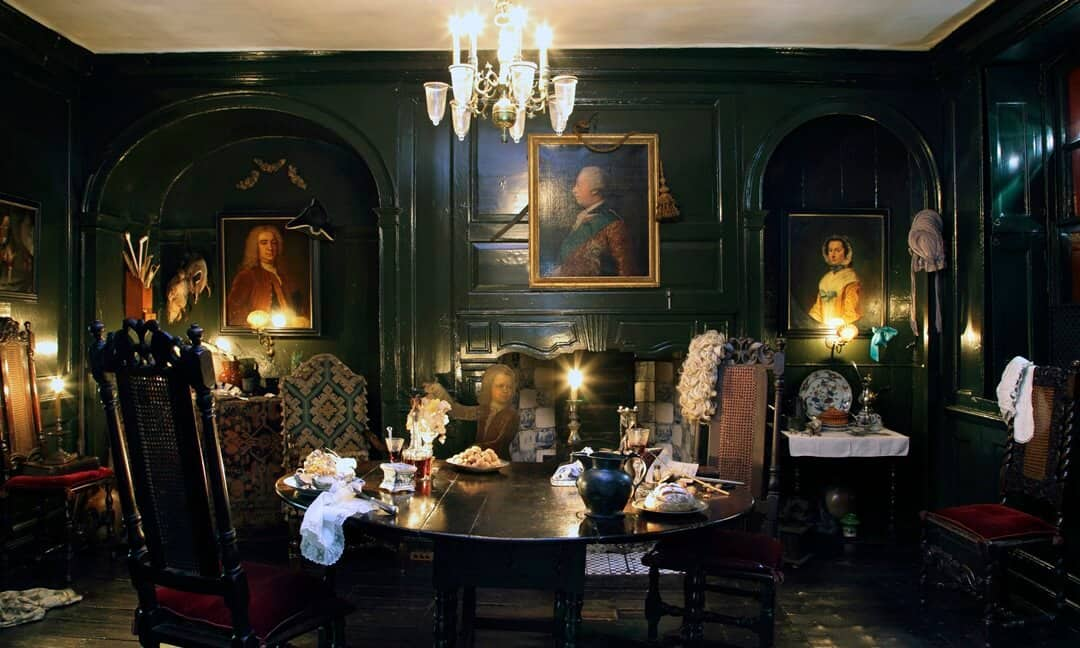 Inside the dining room at Dennis Severs House, London Photograph © Roelof Bakker
