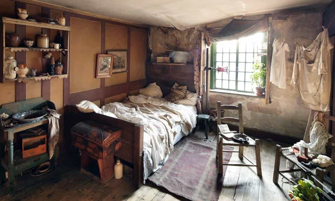 The attic bedrooms show the poverty of the early 19th century at Dennis Severs House, Folgate Street, London. Photograph © Roelof Bakker