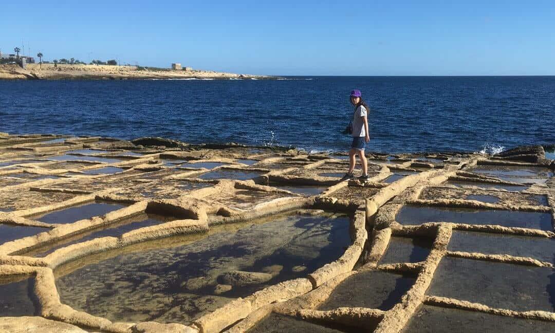 Exploring the Zonqor Point Salt Pans in Marsascala, Malta.