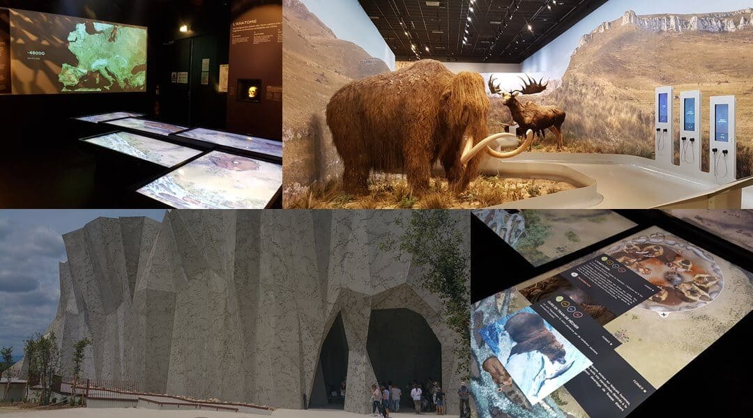 The replica of Chauvet and the interactive interpretation centre.