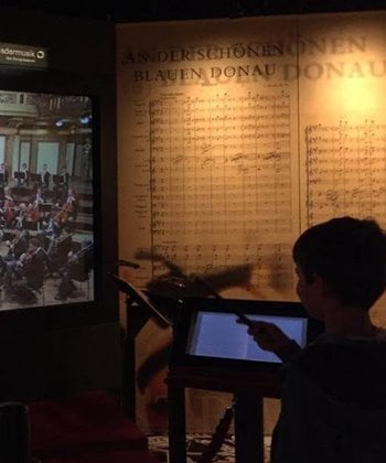 Learning about the history of music in Vienna, Austria.