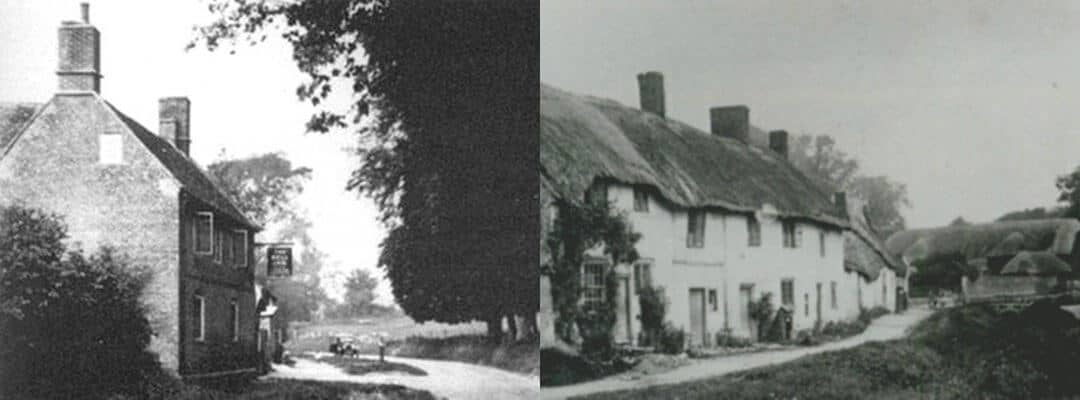 Old pictures of Imber before it was evacuated for D-Day training.
