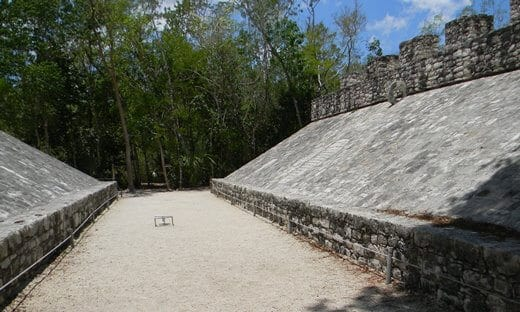 A Mayan Ball Court at Cobá, Mexico.