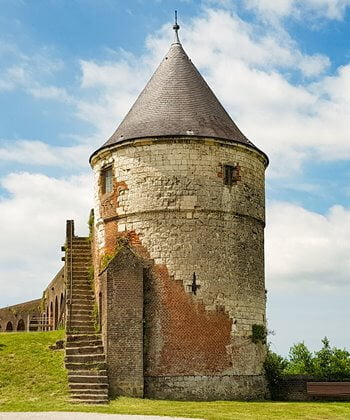 A tower on the walls of Montreuil-sur-Mer, France.