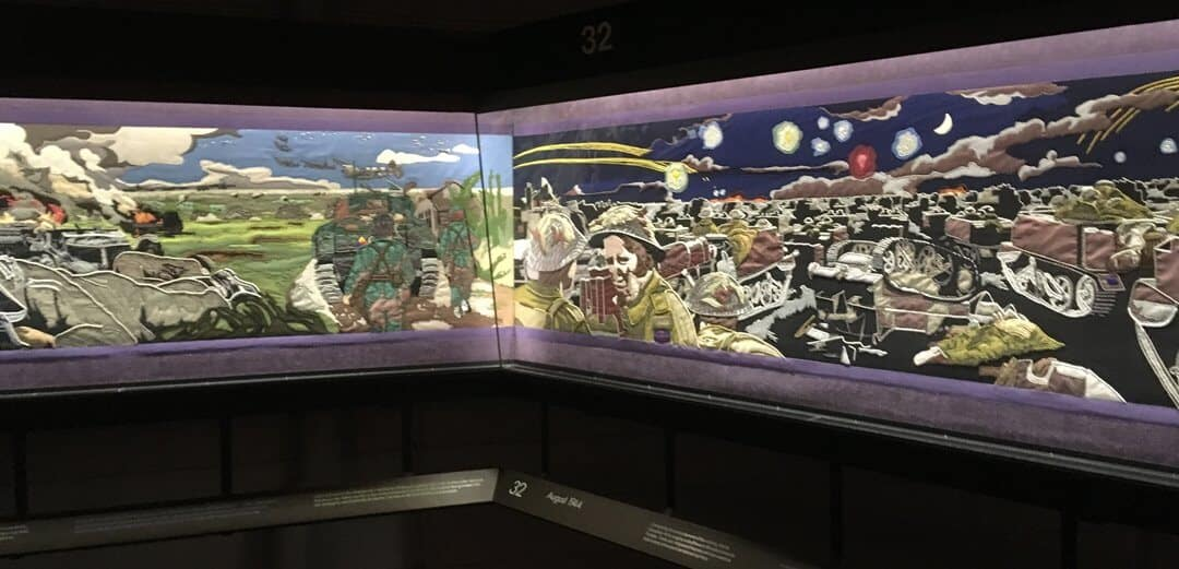 The Overlord Embroidery in the D-Day Story Museum in Portsmouth