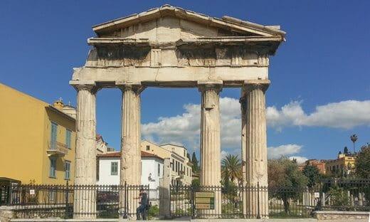 The entrance to the Roman Agora, Athens.