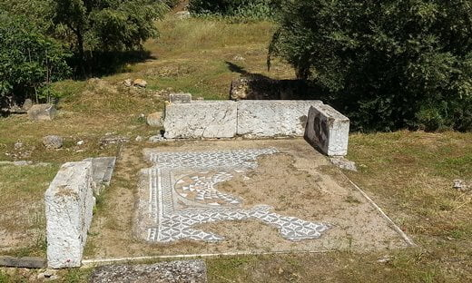 The House of the Roman Mosaic in the Stenopos Kollytos archaeological area, Athens.