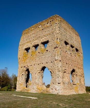 Gallo-Roman Temple of Janus in Autun, Burgundy.