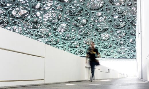 Inside the iconic Louvre Abu Dhabi.