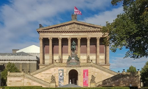 The entrance to the Alte Nationalegalerie on Museumsinsel, Berlin.