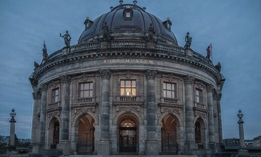 The entrance to the Bode Museum, Berlin.