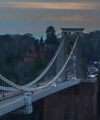The famous Clifton Suspension Bridge in Bristol, south west England.