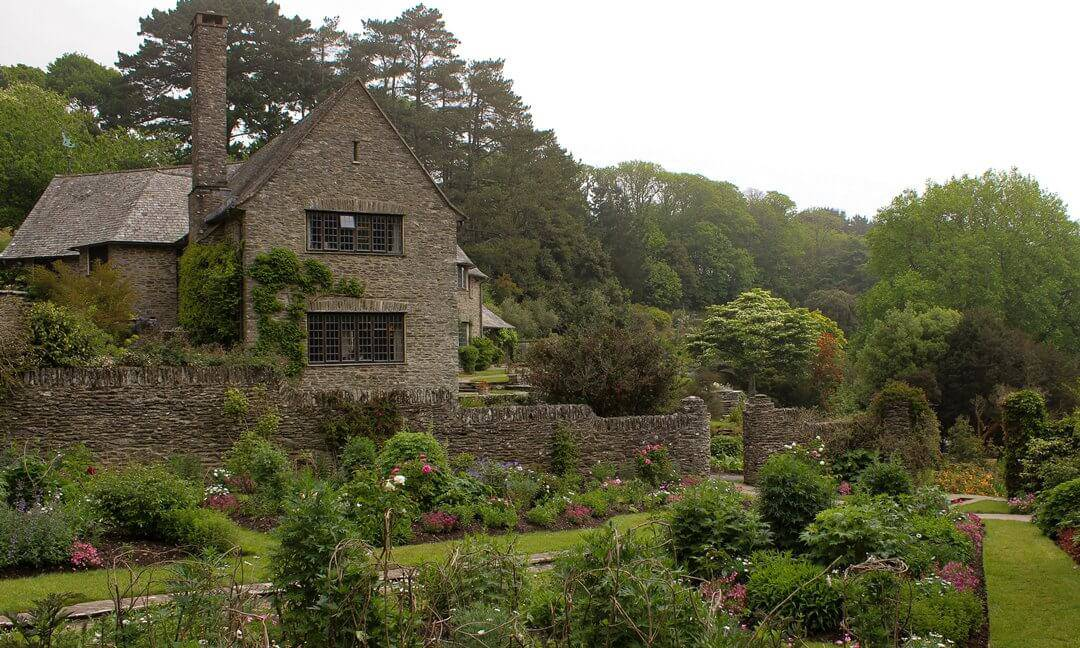 The gardens at Coleton Fishacre in the early spring.