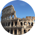 The Flavian amphitheatre in Roman, also called the Colosseum.