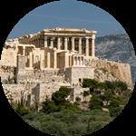 The Parthenon on the Acropolis in Athens.
