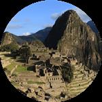 The dramatically situated Machu Picchu in Peru.