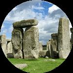 A trilithon at Stonehenge, England.