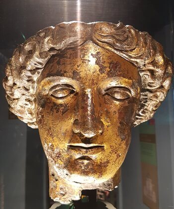 The goddess Sulis Minerva, found in the Roman baths in Bath.