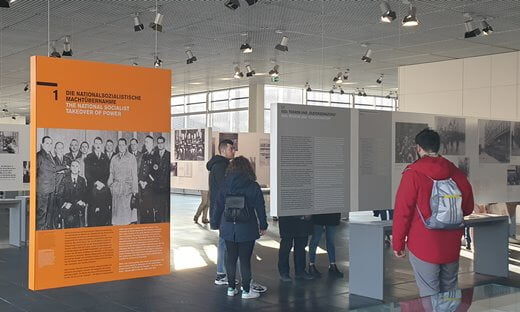 Inside the Interpretation Centre at the Topography of Terror.