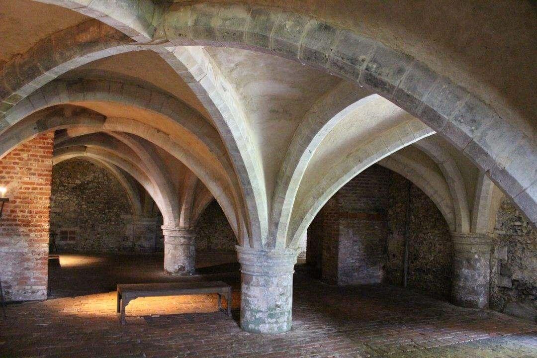 Vaulted arches under ground.