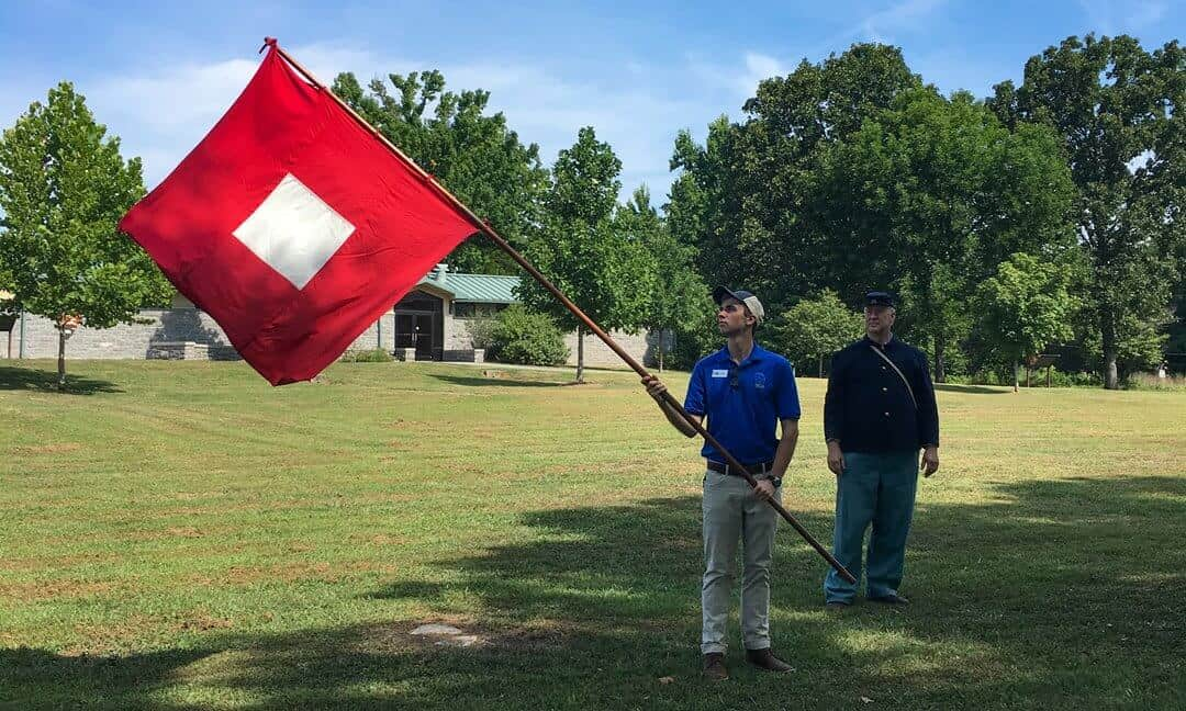 Living History re-enactments at the Stones River National Battlefield.