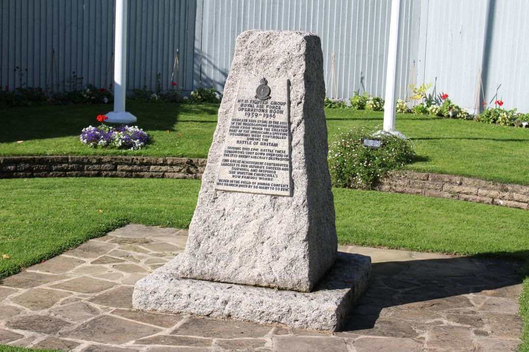 The memorial to the pilots who fought in the Battle of Britain.