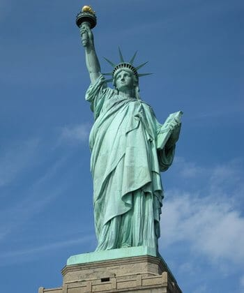 The iconic and UNESCO listed Statue of Liberty, New York.