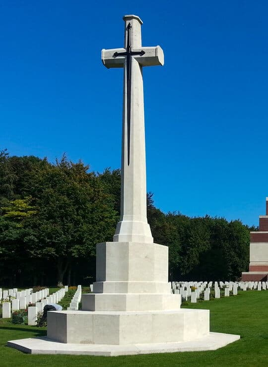 The Cross of Sacrifice at Thiepval Memorial.