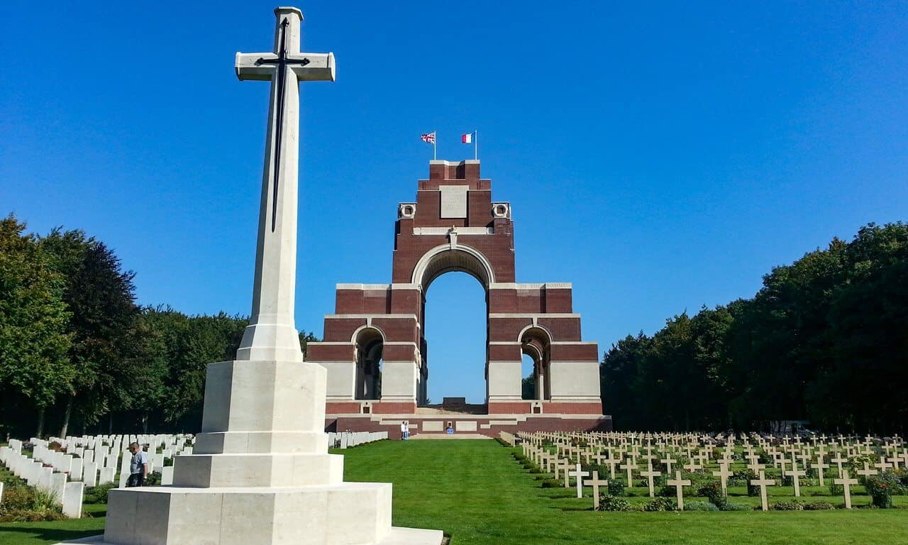 The Thiepval Memorial to the Missing of the Somme, France.