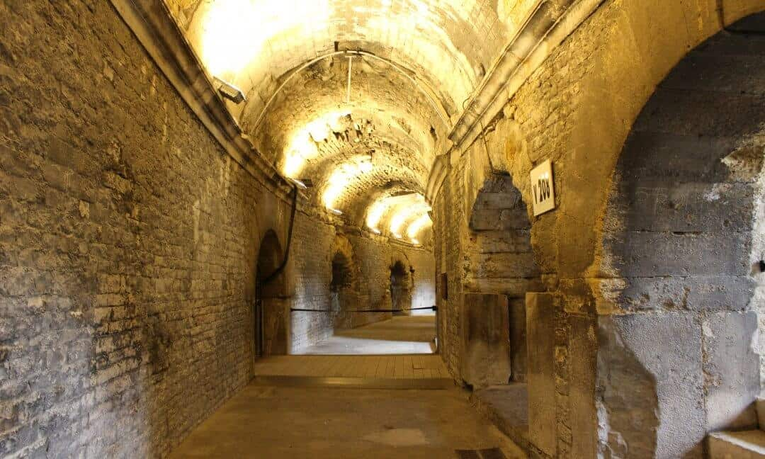 One of the passageways in the Arena at Nimes.