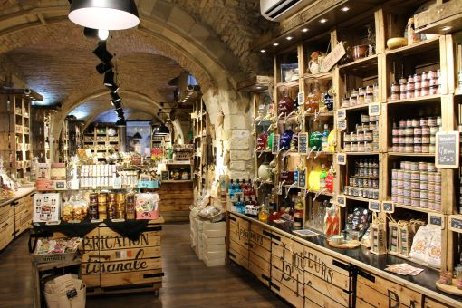 Inside a food shop in Nimes.