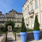 The garden outside the Museum of Old Nimes.
