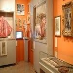Inside an orange room at the Museum of Bullfighting in Nimes.