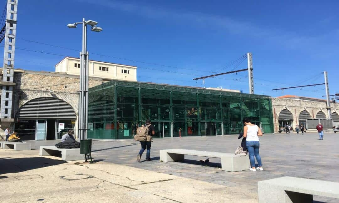The train station in Nimes.