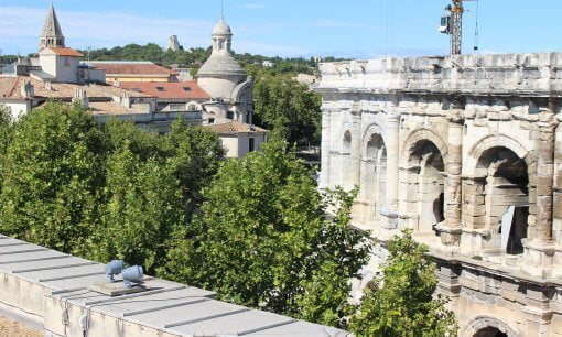 A rooftop view over Nimes.