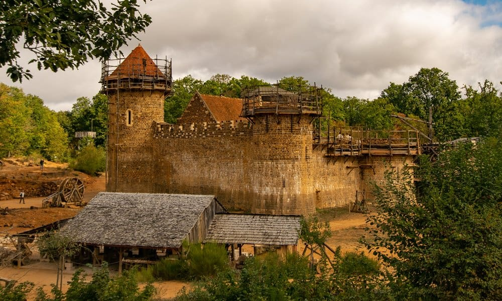 The construction site of Château de Guédelon in Burgundy, France.