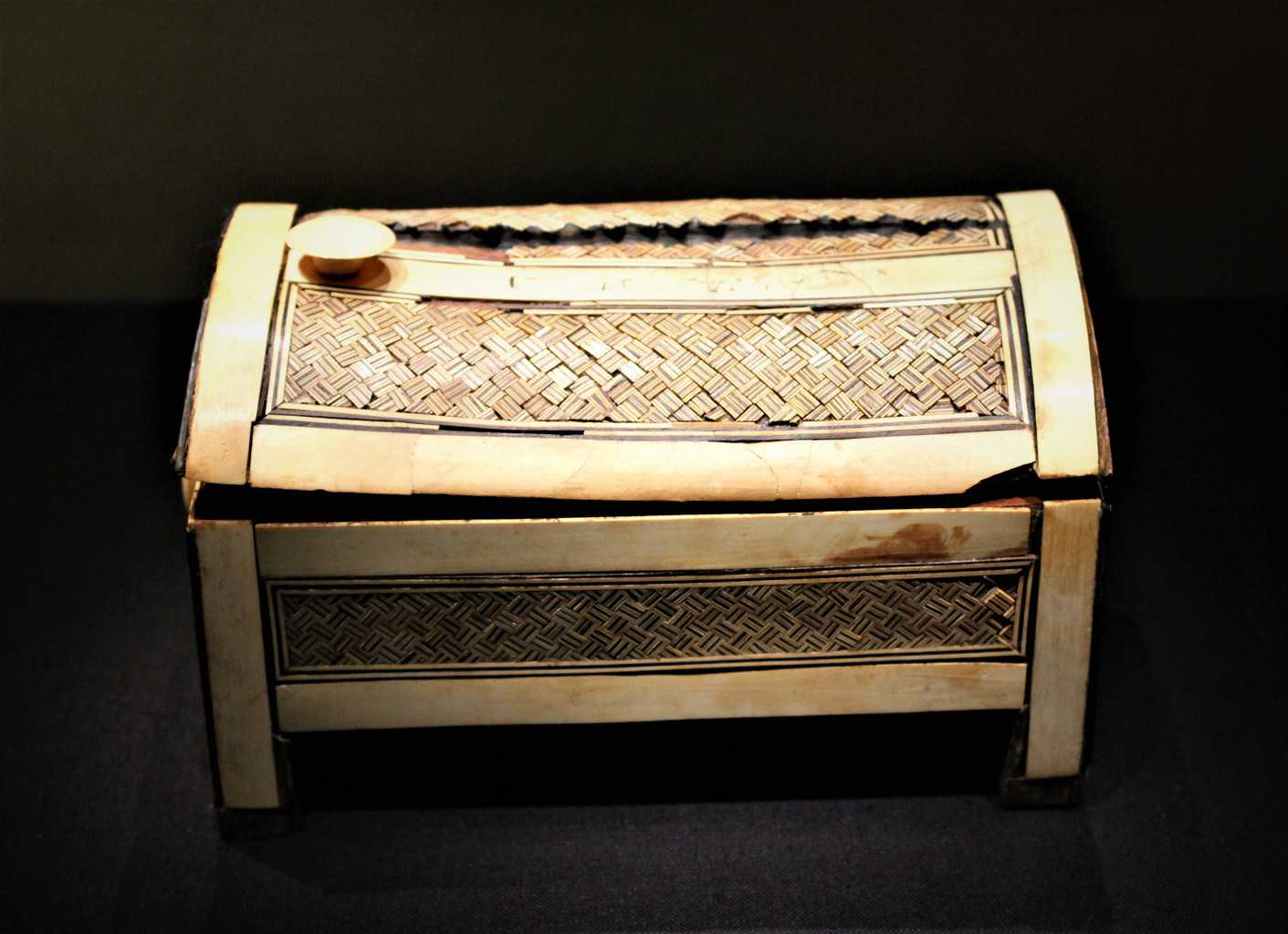 A box made of ebony and ivory from Tutankhamuns tomb.