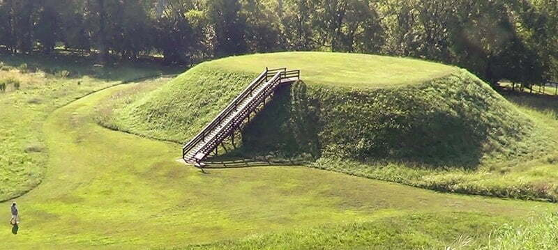 One of the  Etowah Indian Mounds.