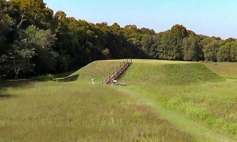 Mound C - one of the  Etowah Indian Mounds near Atlanta.