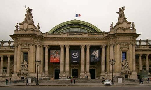 Entrance to one of the exhibition halls of the Grand Palais, Paris.