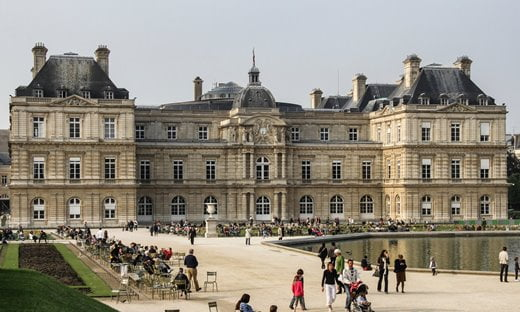 The garden façade of the Luxembourg Palace in Paris, the seat of France's Senate.