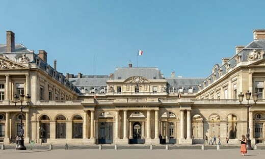 Front entrance to the Palais-Royal in Paris, now home to the Council of State.