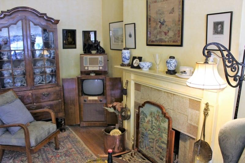 Inside a sitting room