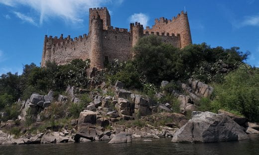 The Knights Templar Fortress of Almourol, Portugal.