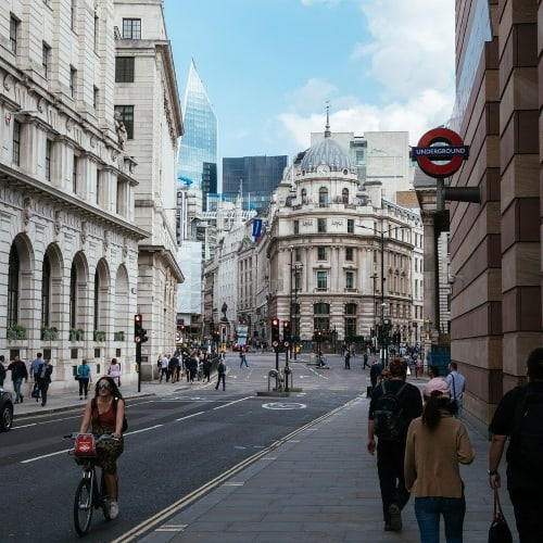 A street in the City of London.