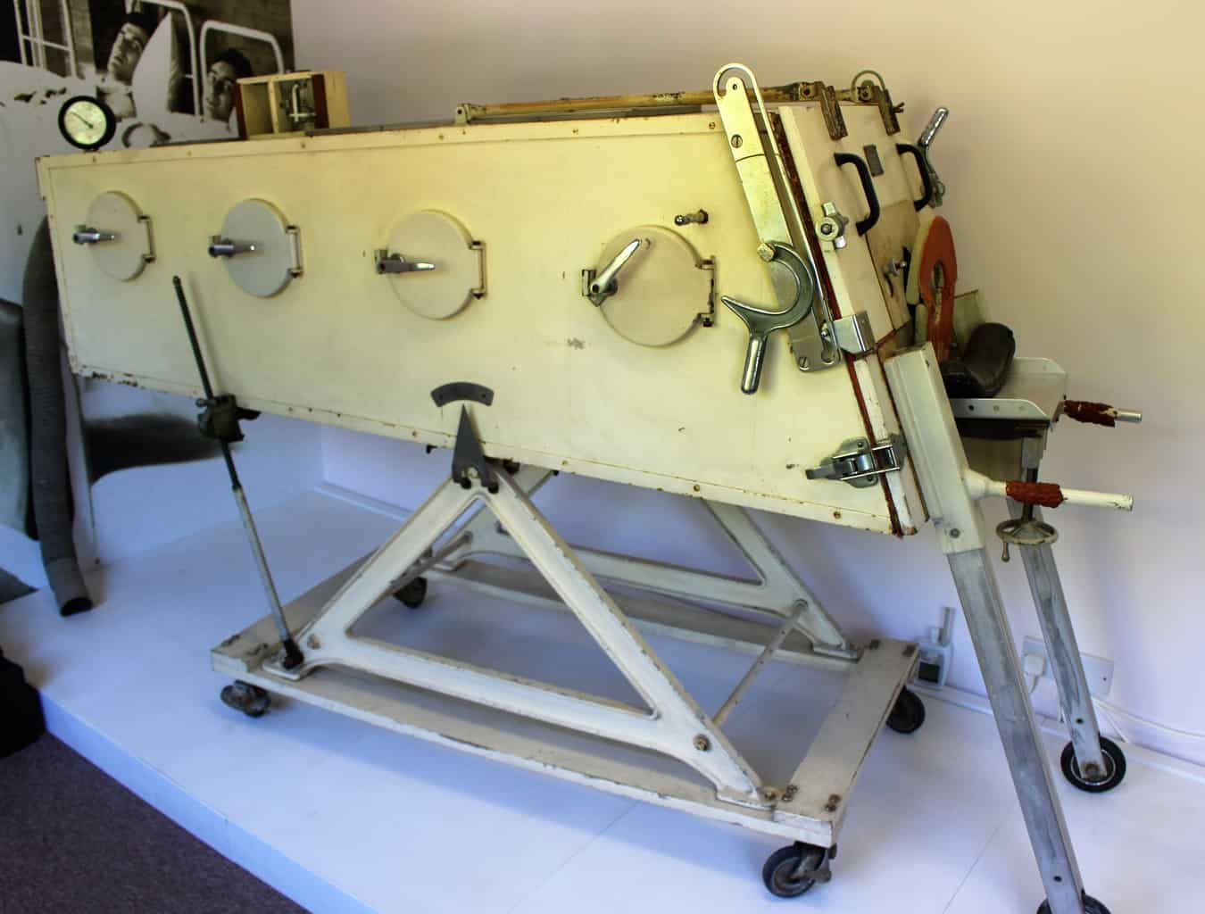 An iron lung manufactured by William Morris in Nuffield Place.